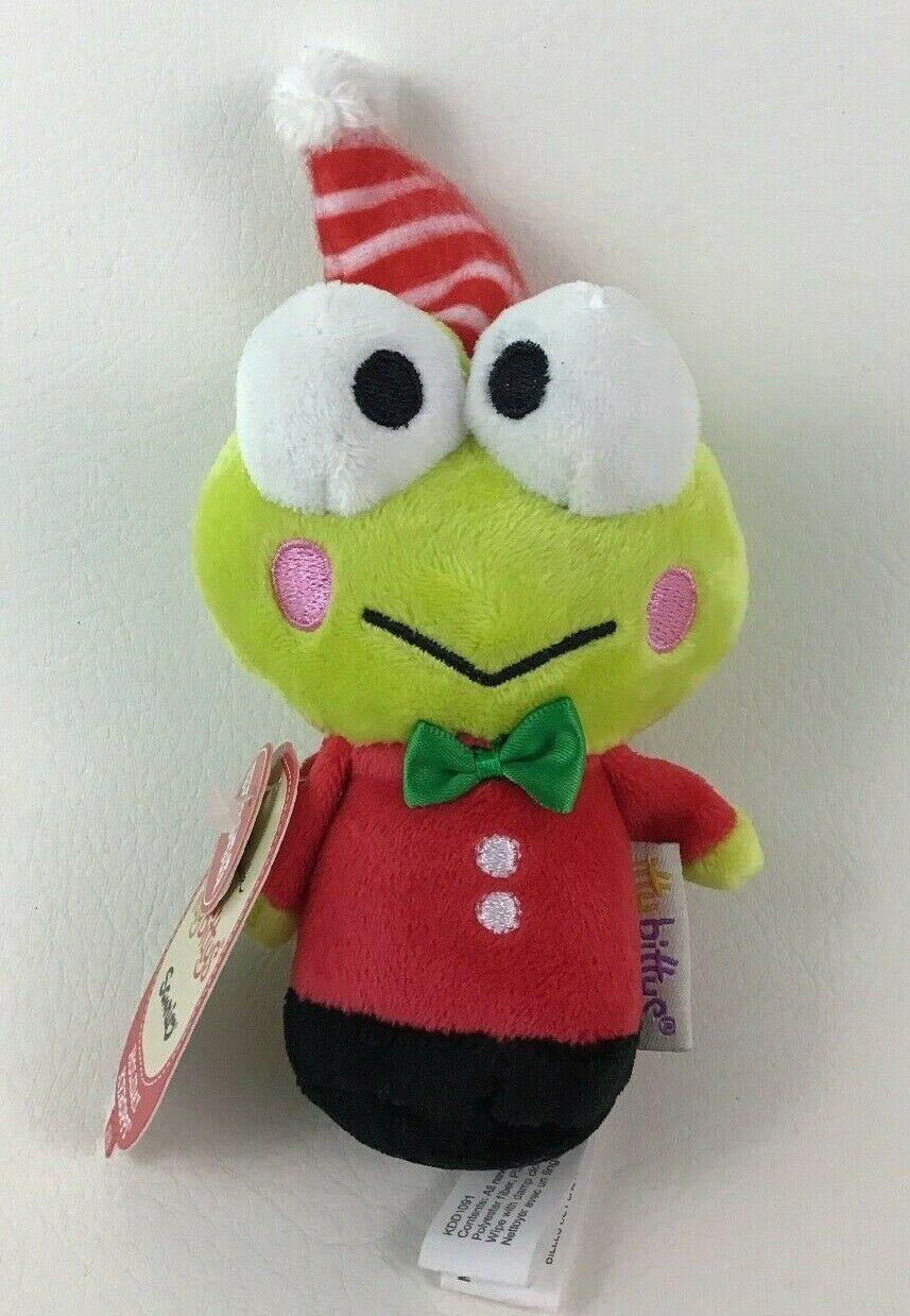 """Holiday Keroppi Itty Bittys Plush Frog Toy 4.5"""" Hallmark Sanrio 2016 - $10.84"""