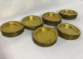 "30 Vintage Gold Design CAMEL Cigarettes 3.5"" Diameter Metal Tin Ashtray - $32.25"