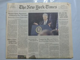 The New York Times 1999 December 9 Clinton Cigarette Tax Work for Shelte... - $39.99