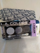 L.A .Colors 3 pack Eyeshadow, Shimmering White, Silver and Black - $4.94