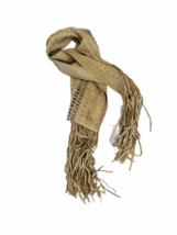 Rare Donna Karan Made in Italy Buttery Soft Tan Braided Leather Wrap Belt Scarf image 2
