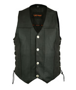 Men's Single Back Panel Concealed Carry Vest Rider Bike Apparel Motorcyc... - $65.95
