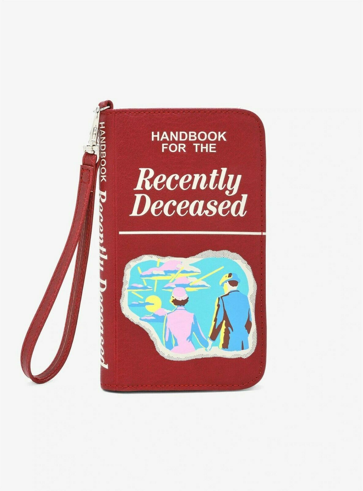 Primary image for BEETLEJUICE Handbook For The Recently Deceased TECH WRISTLET Phone Bag Wallet