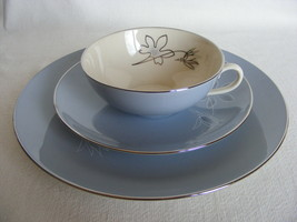 """Franciscan Brentwood Cup Saucer 8 1/8"""" Salad Plate Gladding McBean Co Mint - $19.95"""