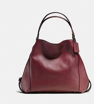 NWT! RARE COACH EDIE SHOULDER BAG 42 - OXBLOOD/DARK GUNMETAL J1680-57123