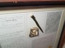 Framed 1854 Shipwreck Artifact Souvenir Delia Marie Hilton Head Brass Spike image 8