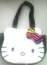 Hello Kitty Sanrio Loungefly Purse Shoulder Bag Tote Black White Leopard... - $33.94