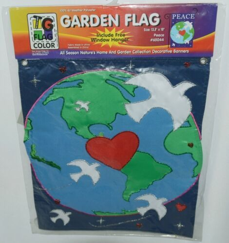 Two Group Flags Co 65044 Peace Polyester Garden Decorative Flag