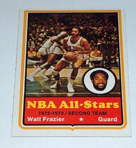 1973-74 Topps #10 Walt Frazier Nba Basketball As ALL-STARS New York Knicks - $8.63