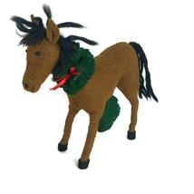 Arcadia Home Hand Felted 100% Wool Christmas Horse Figure Figurine Holid... - $27.91