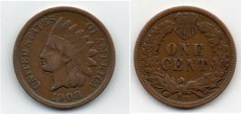 NICE FINE 1908 S ORIGINAL PROBLEM FREE KEY DATE INDIAN HEAD CENT~FREE SH... - $65.00