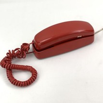 Vintage 1980's AT&T Trimline 210 Red Push Button Phone Table or Wall - $20.85