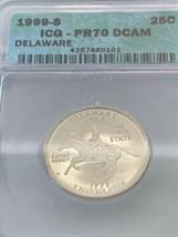 1999-S 25c DELAWARE U.S. STATE QUARTER *ICG PROOF 70 DCAM - $148.50