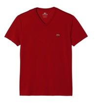 LACOSTE MEN'S SPORT PREMIUM PIMA COTTON V-NECK SHIRT T-SHIRT PIMENTO size XL