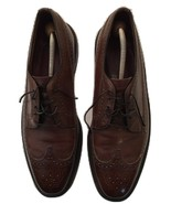 Men's Vintage Freeman Longwing Oxford Brogues Brown Leather V-Cleats Siz... - $88.10