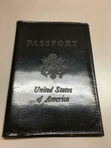 ABAS United States Passport Cover Holder Black Smooth Fine Leather Acces... - $26.72
