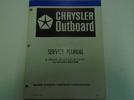 1981 Chrysler Outboard 6 7.5 180 Matrose Motors Service Reparatur Shop M... - $25.68