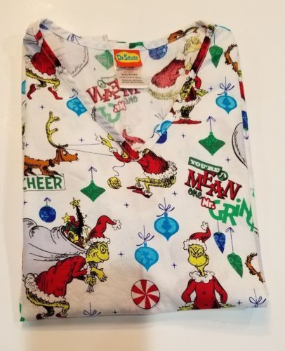 61ffbd8a711 Dr Seuss Ladies Scrub Top The Grinch Size XS and 50 similar items. 12