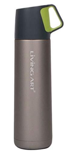 Living Art Stainless Steel Vacuum Insulated Beverage Thermos Bottle (500ml(16.9o