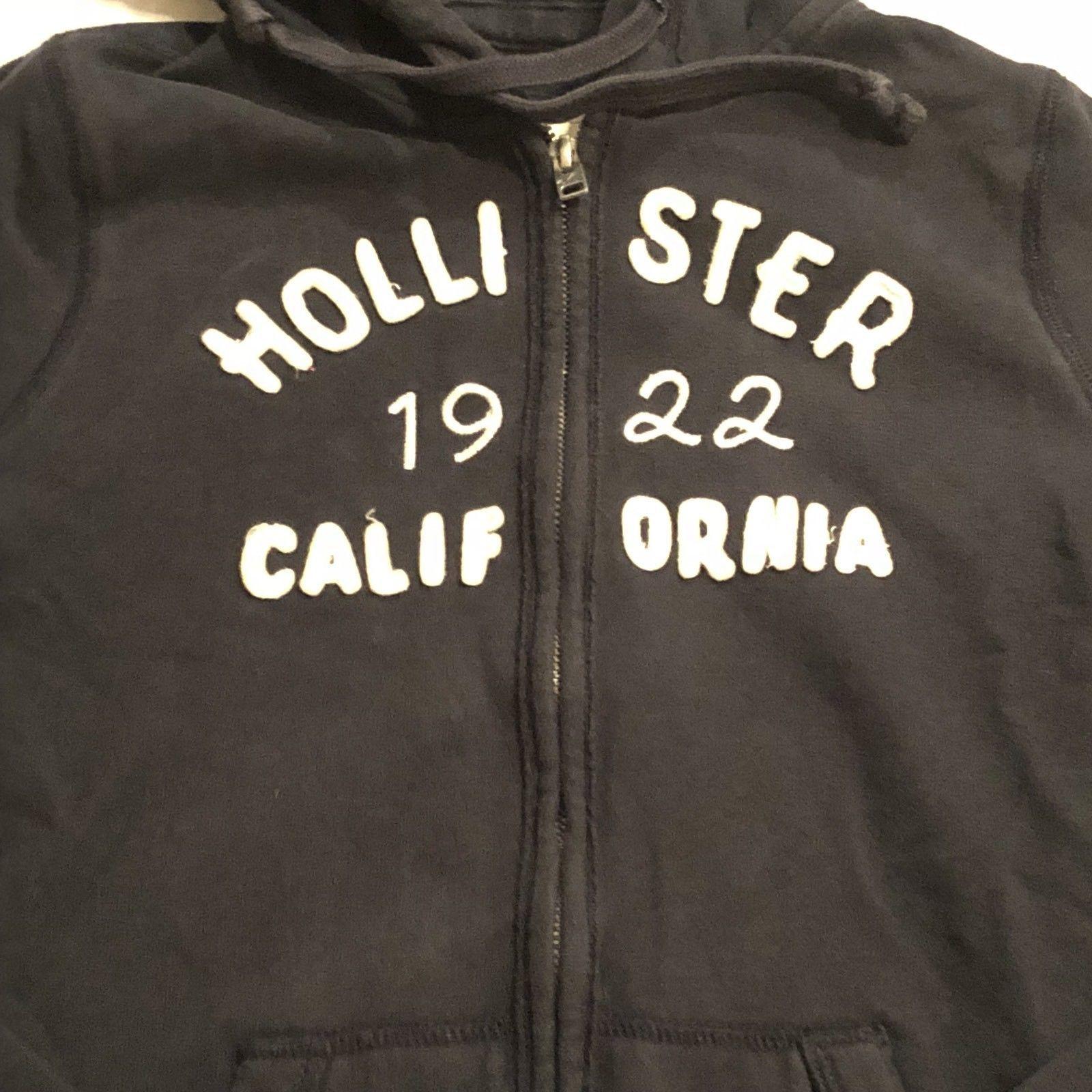 Hollister Navy Blue Junior Girls Ladies Sz S Zip Up Sweat Jacket