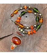 Statement necklace, designer necklace, resin necklace (956) - $22.99