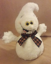 """Russ Berrie White Sparkly Frites The Halloween Ghost Plush Sruffed Animal 9"""" - $17.75"""