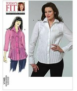 Vogue Patterns V1165 Shirt Casual Pleats Darts All Sizes Sandra Betzina  - $14.36