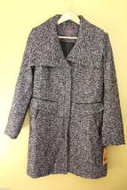NWT Cole Haan New York City Women's Black White Wool Winter Pea Coat 12 ... - $295.00