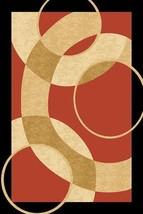 PREMIUM 3D Hand Carved Modern 3x5 4x6 Rug Contemporary 1052 Terracotta Orange - $75.00