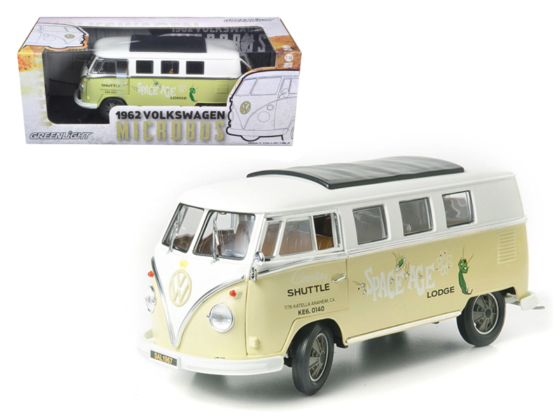 1962 Volkswagen Microbus Space Age Lodge Cream 1/18 Diecast Model Car by Greenli - $62.99