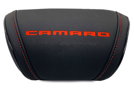 Camaro Car Cushion Travel Pillow Embroidery Headrest Neck Support Red Logo - $35.00