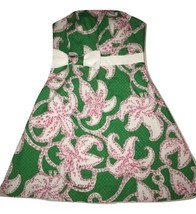 Lilly Pulitzner Green Pink Lilly Print Dress 4 Women's - $62.40