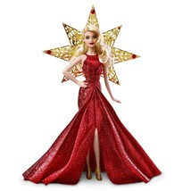 Barbie Christmas 2017 Holiday Barbie Doll with Sparkling Luxury Red Dres... - $44.65