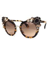 MIU MIU Women's Sunglasses MU04SS Havana 52-24-145 MADE IN ITALY - New! - $239.50