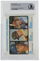 Mike Schmidt Signed 1973 Topps #615 Rookie Third Baseman Card BGS - $665.27