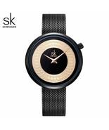 SK® Watches Women Dress Female Watch Women Metal Mesh Fashion Clock Vintage - $30.17