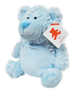 Embroider Buddy Bobby Bear Blue 16 Inch Embroidery Stuffed Animal - $29.66