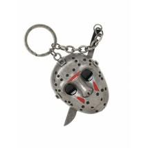 Bioworld - Friday the 13th Jason Mask & Machete 3D Keychain, Hockey Mask - $8.70