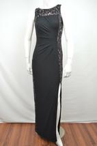 LAUREN RALPH LAUREN NWT BLACK FLORAL LACE SEQUIN PANEL DRESS SIZE 2 $220... - $60.16