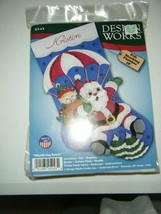 "Design Works Felt Stocking Applique Kit 18"" Long-Skydiving Santa, DW5243 KRISTIN - $13.04"