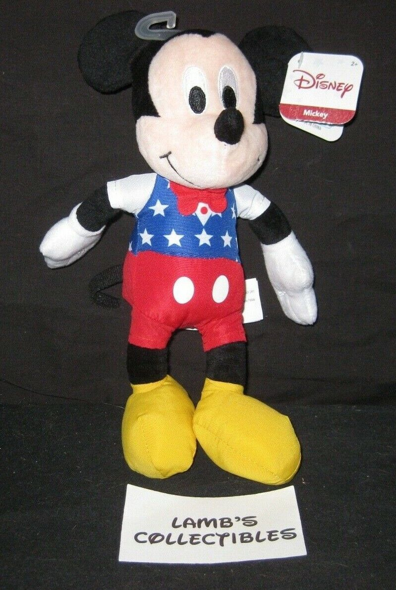 "Primary image for Disney Just Play 11"" Patriotic Red White Blue Outfit Mickey Mouse plush toy doll"