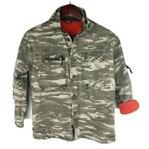 Gap Kids Boys Jacket Camouflage Camo Pockets Button Front Green Size Med... - $11.98