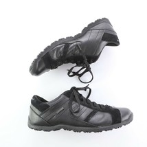 Skechers Black Leather Suede Fashion Sneakers Walking Shoes Square Toe W... - $29.54