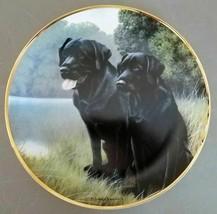 Franklin Mint Sporting Companions Collector Plate Labrador Dog Nigel Hemming EUC - $17.50