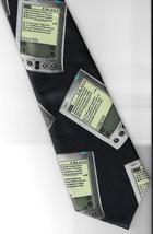 Deborah Palm Pilot Neck Tie black PDA organizer novelty career necktie N3 - $29.77