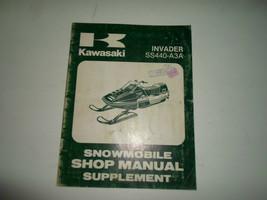 1981 Kawasaki Invader SS440 A3A Schneemobil Shop Manuell Ergänzung Fabri... - $89.09