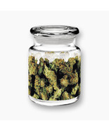Stonerware Mary Jane Images Apothecary Style Glass Jar with Lid NEW UNUSED - $8.79