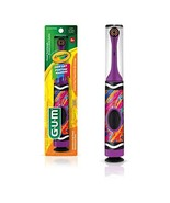 GUM - 10070942126127 Crayola Kids' Power Toothbrush with Travel Cap, Age... - $35.99