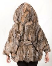 Canadian Lynx Fur Cape Hood Belt image 4