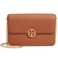 NWT TORY BURCH CHELSEA PEBBLED LEATHER CONVERTIBLE SHOULDER BAG  TWO STR... - $386.04